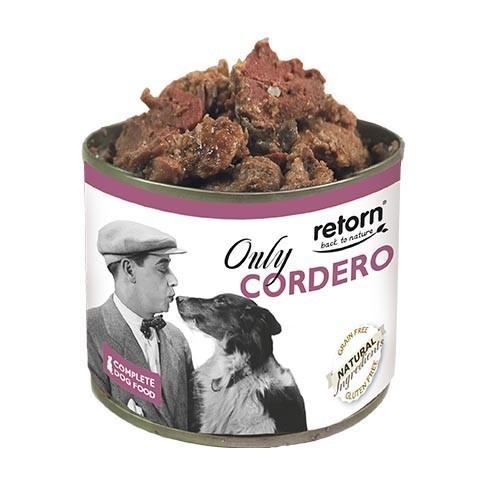 Comida Húmeda para Perros Retorn Húmedo Only Cordero 12x185gr