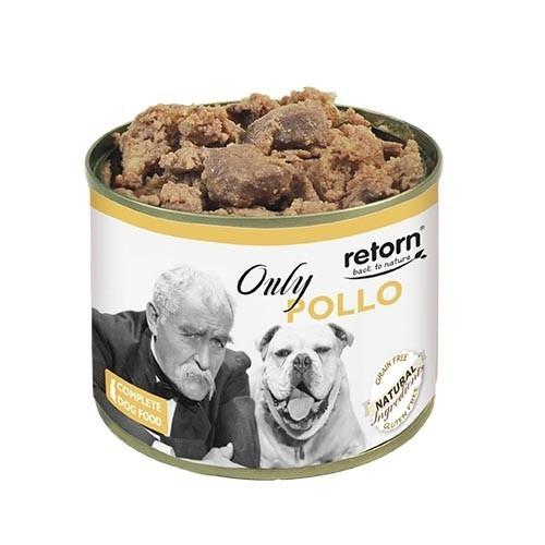 Comida Húmeda para Perros Retorn Húmedo Only Pollo 12x185gr