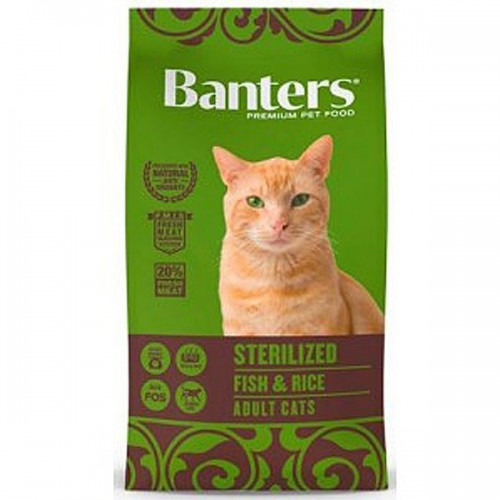 Pienso para Gatos Esterilizados Banters Cat Sterilized Fish & Rice