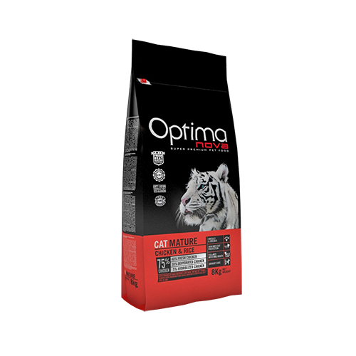 Pienso para Gatos Optima Nova Cat Mature Chicken & Rice