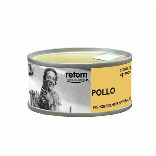 Comida Húmeda para Gatos Retorn Mousse Hydro Diet Pollo. Tripack 3x80gr
