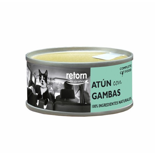 Comida Húmeda para Gatos Retorn Mousse Hydro Diet Atún con Gambas 80gr