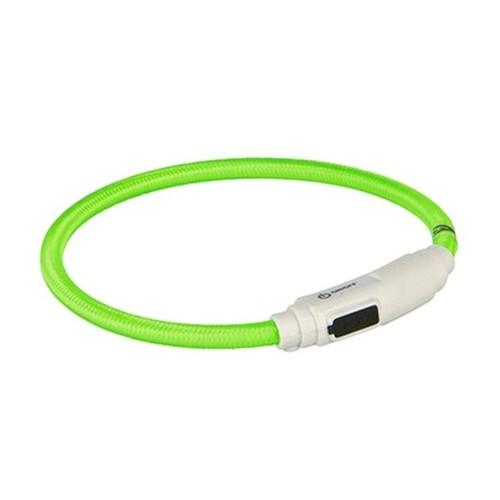 Collar para Gatos Aro Flash USB Verde 35cm