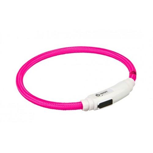 Collar para Gatos Aro Flash USB Rosa 35cm