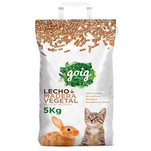 Lecho para Gatos de madera vegetal Goig 5kg