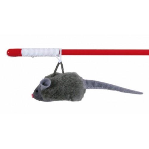 Varita con Ratón para Gatos con Sonido