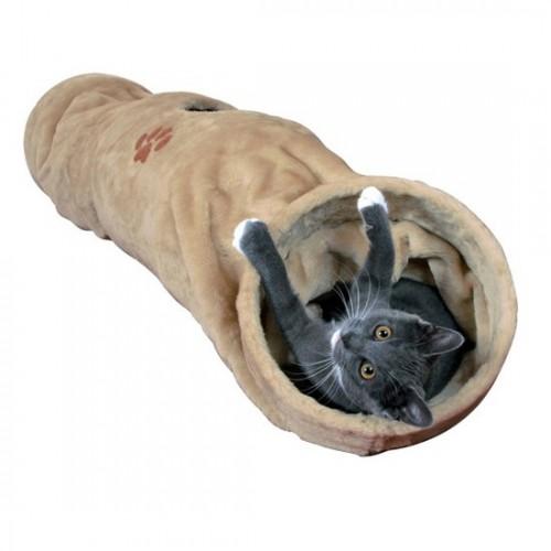 Túnel Juguete para Gatos con Papel Crunch Tres Entradas