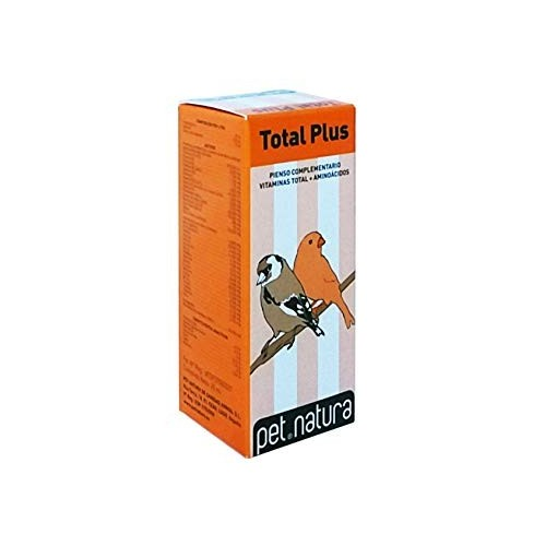 Aminoácidos y Vitaminas para Aves Total +PLUS Pet Natura 25ml