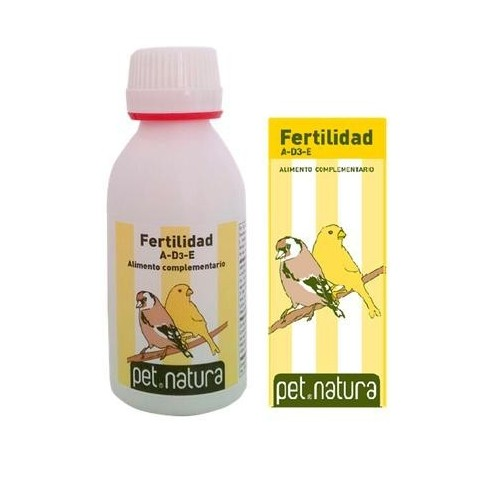 Vitaminas para Aves Fertilidad AD3E Pet Natura 25ml