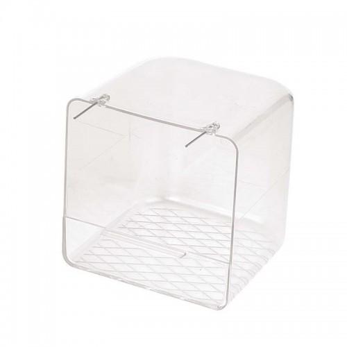 Bañera para Pájaros Exterior 12,5x11x12,5cm