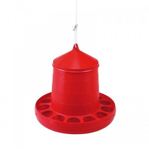 Tolva para Gallinas Plástico Roja