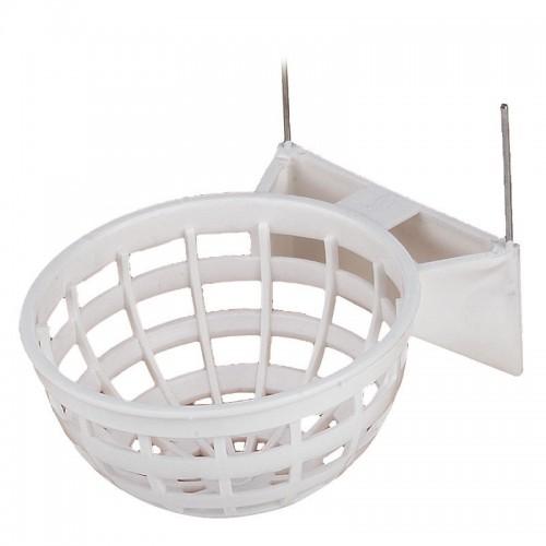 Nido para Canarios Plástico Blanco con Gancho  10x6cm