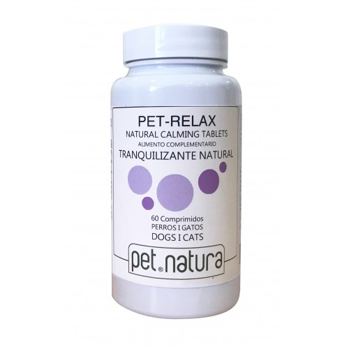 Relajante para Perros y Gatos Pet Relax Tranquilizante Natural 60cp