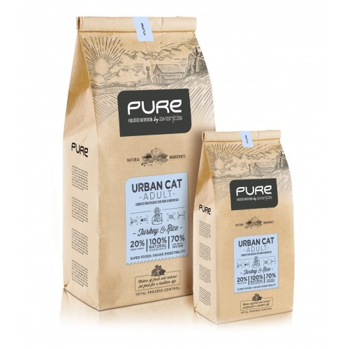 Pienso para gatos PURE CAT Urban Turkey 2Kg