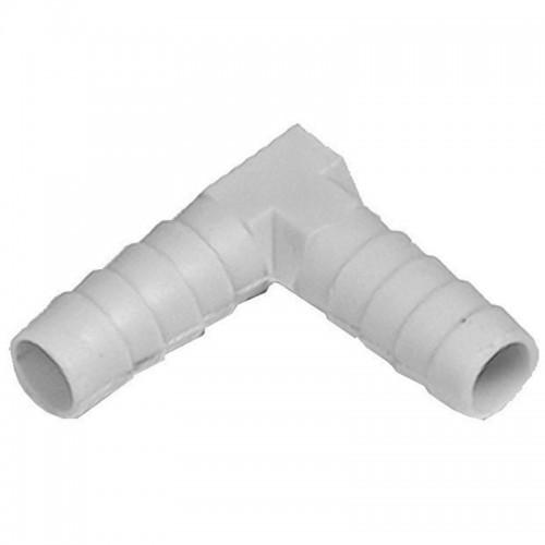 Codo de plástico para goma de 10 mm