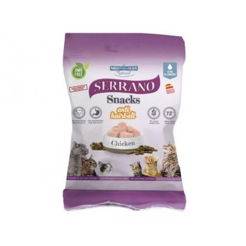 Snacks Mediterranean Serrano Pollo Antibolas para gato 100gr