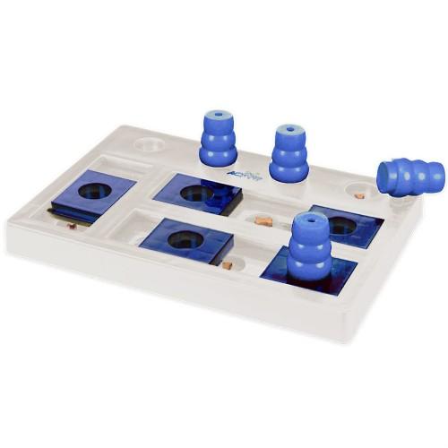 Dog Activity Chess Juego interactivo para perros, Blanco/Azul