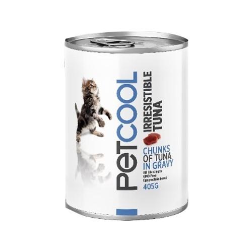 Cómida Húmeda para gatos Pet Cool IRRESISTIBLE TUNA 405 gr