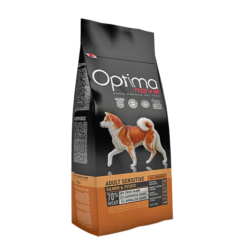 Pienso para Perros Optima Nova Adult Sensitive Salmon & Potato
