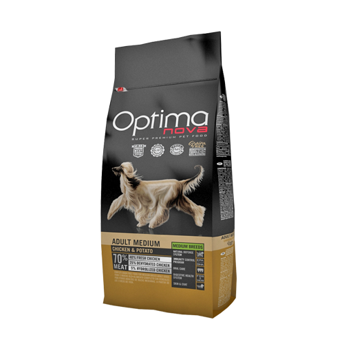 Pienso para Perros Optima Nova Adult Medium Chicken & Potato