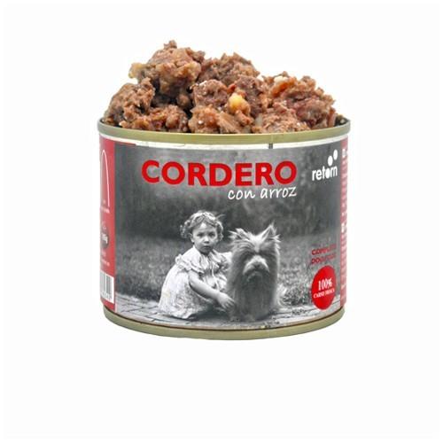 Comida Húmeda para Perros Retorn Húmedo Cordero con Arroz 12x185gr