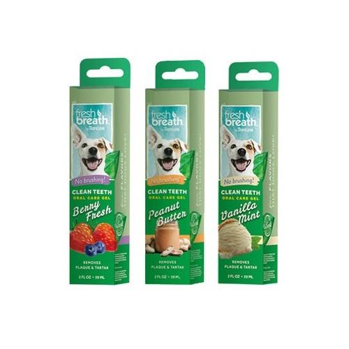 Oral Care Gel Limpiador para Perros Clean Teeth de Sabores 59ml