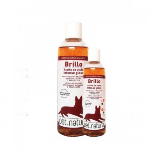 Champú para Perros y Gatos Brillo Aceite de Visón Pet Natura 250ml