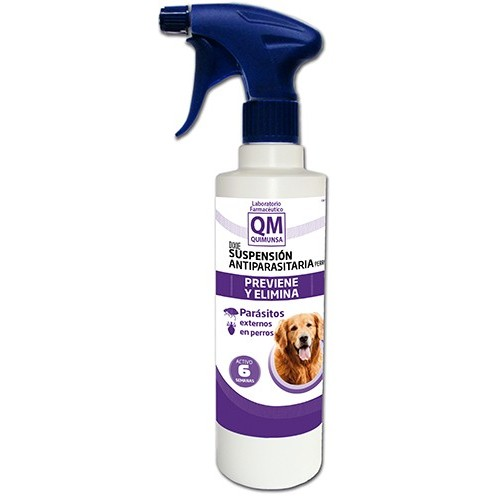 Spray Antiparasitario Perros QM Suspensión 500ml