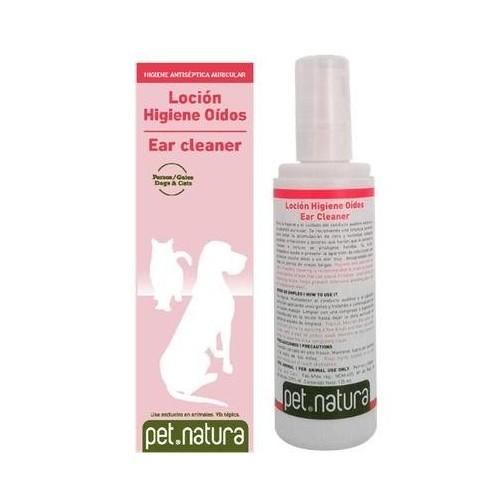 Loción Higiene Oídos para Perros y Gatos Pet Natura 125ml