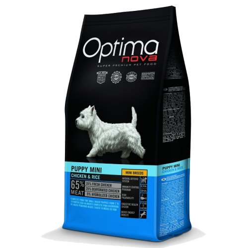 Pienso para Cachorros Optima Nova Puppy Mini Chicken & Rice 2 kg