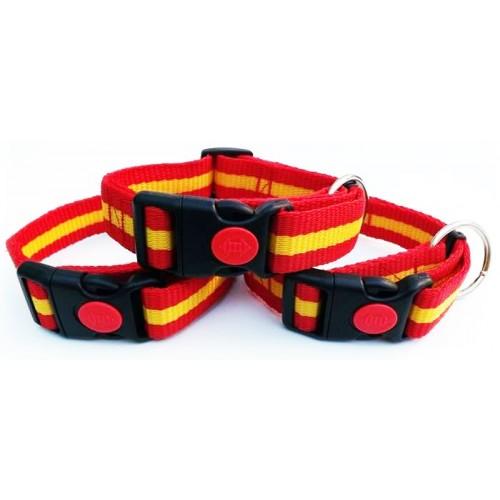 Collar para Perros Nylon España Regulable con Cierre 2,5cm de ancho