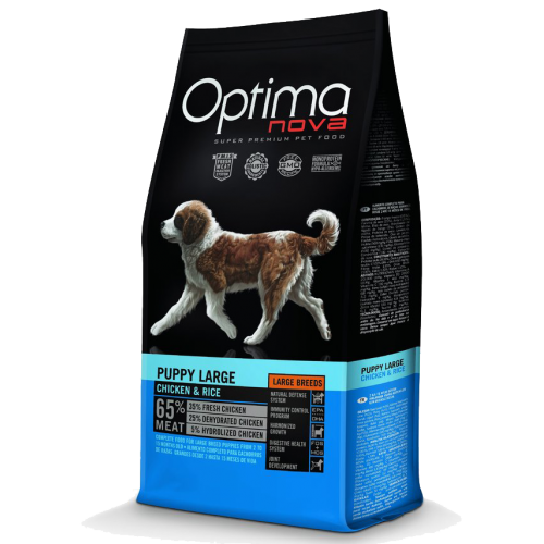 Pienso para Cachorros Optima Nova Puppy Large Chicken & Rice