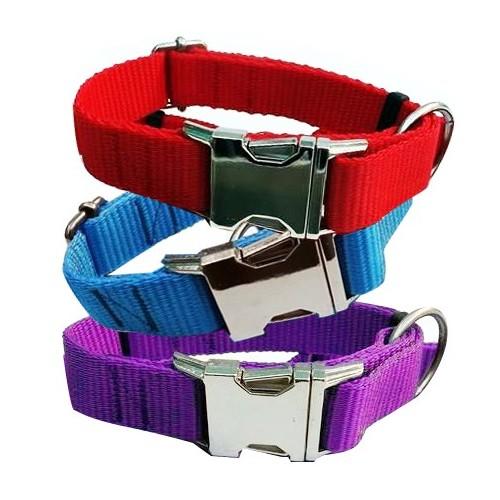 Collar para Perros Nylon Colores con Hebilla Metal