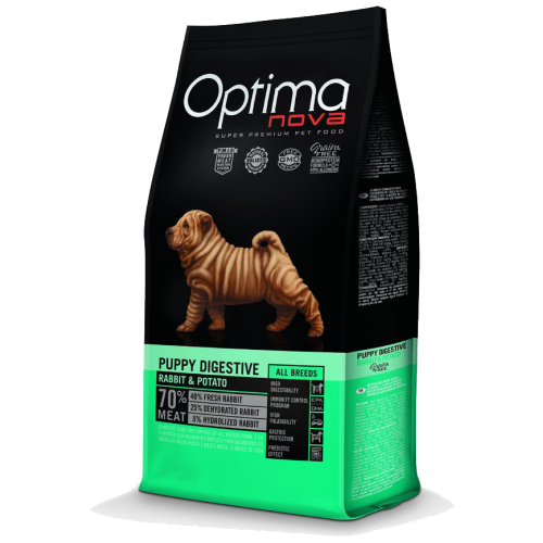 Pienso para Cachorros Optima Nova Puppy Digestive Rabbit & Potato