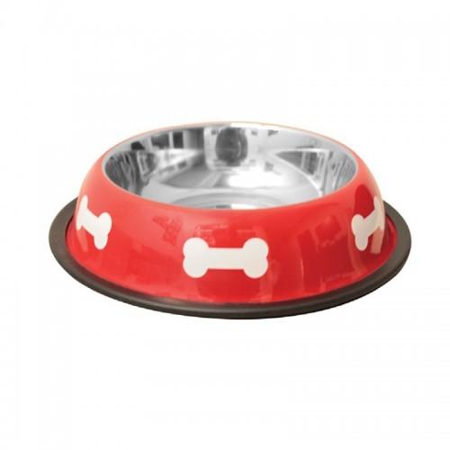 Comedero Bebedero para Perros y Gatos Rojo Petipop con huellas